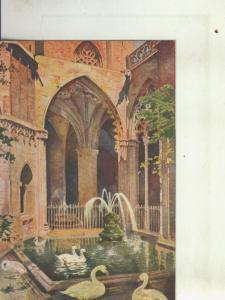 Postal 010444: Fuente de las ocas en la catedral de Barcelona