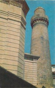 Postcard Azerbaijan BAKU fortress minaret Djuma mosque
