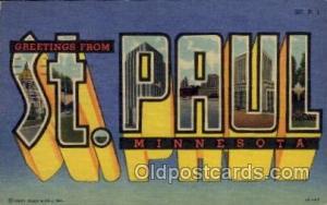 St. Paul, Minnesota Large Letter Town Towns Post Cards Postcards  St. Paul, M...