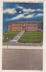 science Hill High School At Night Johnson City Tennessee