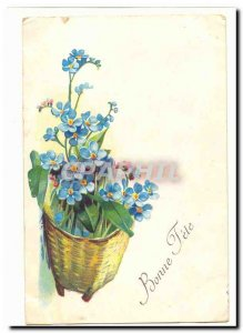Old Postcard Fancy Bonne fete (flowers)