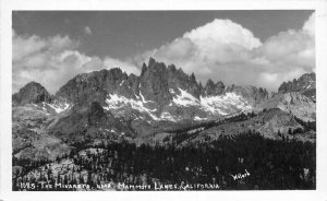 Minarets Mammoth lake Mono California Willard RPPC Photo Postcard 21-3696