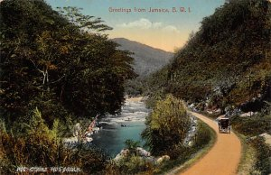 Jamaica, Jamaique Post card Old Vintage Antique Postcard Rio Cobre Bog Walk U...