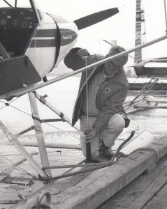 RP: SKYWAY Airways Super Cub Airplane & Pilot, Canada , 1950s