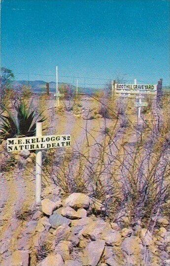Arizona Tombstone Graves Of M E Kellogg