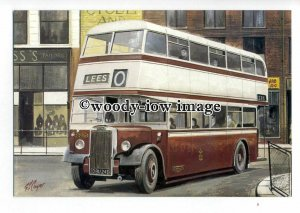 tm6061 - Oldham Corp. Roe bodied Layland PDi'47 - Artist - G.S.Cooper - postcard