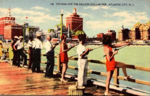 New Jersey Atlantic City Fishing Off The Million Dollar Pier