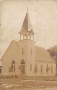 Oklahoma OK Postcard c1910 BLACKWELL Second UB Church Real Photo RPPC