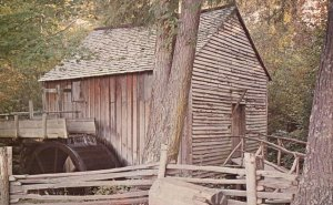 Great Smoky Mtns. Park, TN, John P. Cable Mill, Chrome Vintage Postcard h3854