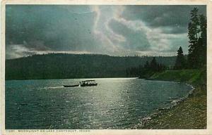 ID, Lake Chatcolet, Idaho, Lake Scene, Moonlight, Detroit Publishing No. 71281