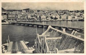 Willemstad Curaçao Curacao pontoon bridge swinging open Ned. Antillen photo pc