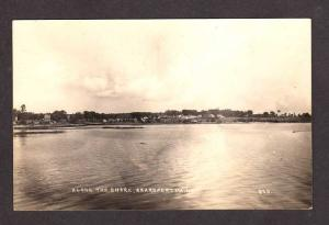 ME View Shore SEARSPORT MAINE Real Photo Postcard RPPC Postcard