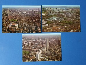 Set of 3 London Aerial View Postcards from GPO Post Office Tower BP8