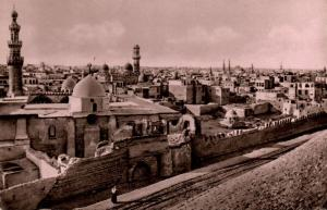egypt, CAIRO, Blue Mosque and General View, Islam (1940s) RPPC