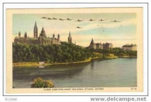 Flight Over Parliament Buildings, Ottawa, Ontario, Canada, PU-1954