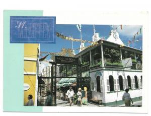 St Maarten Caribbean Old Street Beaujolais Restaurant Postca