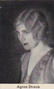 Confreia Cigarette Card Film &  Stage Stars No 112 Agnes Straub