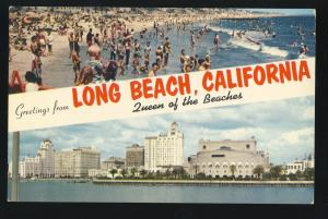 Greetings From Long Beach, California/CA Postcard,Multi-View