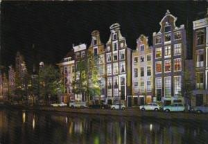 Netherlands Amsterdam Keizersgracht With Old Gables