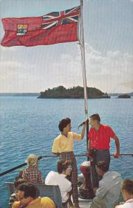 Enjoying a cruise on lovely Lake of the Woods,  Ontario,  Canada,   40-60s