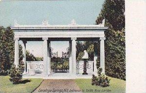 New York Saratoga Springs Entrance To Yaddo Rose Garden