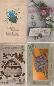 Glitter Cannon 4x WW1 Postmark Greeting Old Postcard s