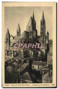 Old Postcard Church of Saint Etienne Caen Abbaye aux homes