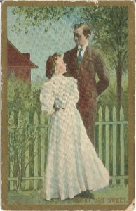 Short but sweet Vintage Postcard Great Image Engagement Announcements