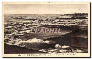 Old Postcard Bagneres de Bigorre The sea of clouds view of the Pic du Midi