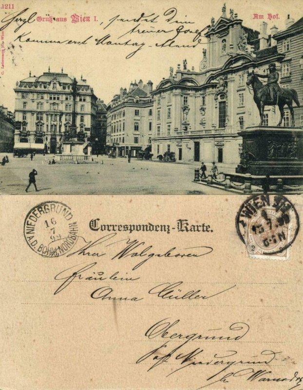 austria, VIENNA WIEN, Am Hof (1899) Postcard