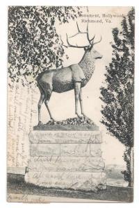Elk's Monument Hollywood Cemetery Richmond VA UDB 1908