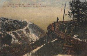 Circular Bridge, Mt. Lowe Railway, CA San Gabriel Valley c1910s Vintage Postcard