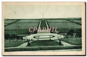 Old Postcard Army Meuse Argonne American Cemetery General view