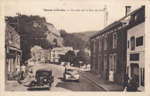 HAMOIR s/OURTHE , Belgium , 1930-40s : Un Coin de la Rue du Pont