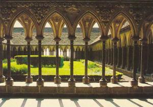France Le Mont Saint Michel Le cloitre de l'Abbaye