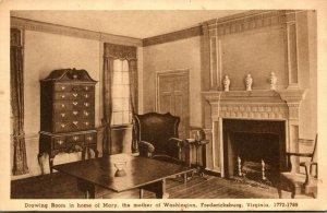 Virginia Fredericksburg Drawing Room In Home Of Mary Mother Of Washington Alb...