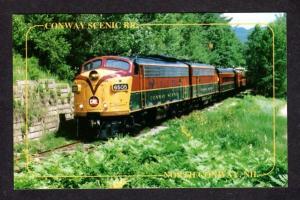 NH North Conway Scenic Railroad Train Goves Bridge New Hampshire Postcard