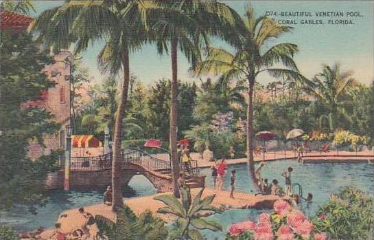 Florida Coral Gables Beautiful Venetian Pool At Coral Gables