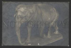 076211 Happy ELEPHANT Figure Vintage PHOTO Card