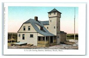 Postcard US Life Saving Station, Salisbury Beach, Mass Y65