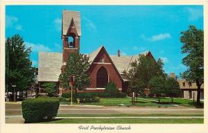 Kankakee Illinois~First Presbyterian Church~1963 Postcard