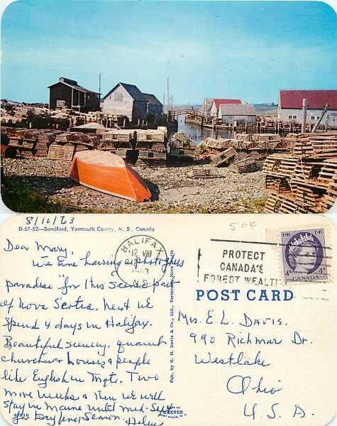 Sandford, Yarmouth Country, Nova Scotia, Canada, 1963 Chrome