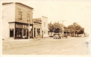 H29/ Mesick Michigan RPPC Postcard c1930s Willey & Johnston Store & Bank4