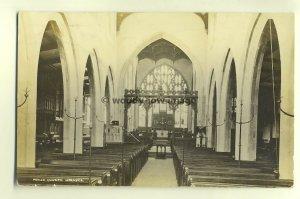 cu1373 - Parish Church , Hornsea , Wiltshire - postcard