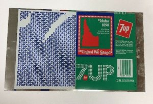 """Idaho Unrolled Alluminio """"7 Up"""" Can 1890 States - United Noi Stand"""