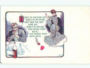 Divided-Back PRETTY WOMAN Risque Interest Postcard AA7865