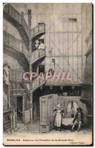Old Postcard Morlaix Interior of Grange Street Steps