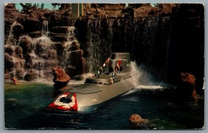 Postcard Anaheim CA c1969 Disneyland Submarine Falls Tomorrowland E-8