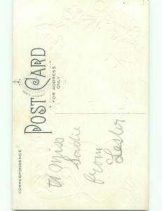 Divided-Back CUPID VALENTINE SCENE Cute Postcard W7674