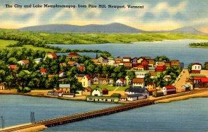 VT -  Newport. City & Lake Memphremagog from Pine Hill